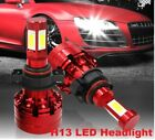 H4-H16 60W 6600Lm LED COB Headlight Kit Far near Beam car Bulbs 6000K Universal