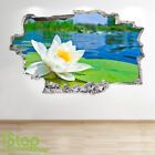 FLOWER LILY WALL STICKER 3D LOOK - BEDROOM LOUNGE NATURE WALL DECAL Z651