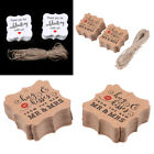 100pcs Vintage Kraft Paper Gift Hang Tags Brown Jewelry Labels Tag Craft Decor