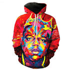 New Women Men The Notorious BIG Tie-dye 3D Print Casual Hoodies Sweatshirt Tops