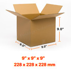 9X9X9 Inches Single Wall Brown Corrugated Cardboard Postal Mailing Box Cheap