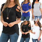 Women Ladies Summer Cotton Short Sleeve Casual Shirt Tops Blouse T-Shirt