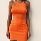 Women's Summer Sleeveless Bodycon Cotton Party Evening Cocktail Short Mini Dress