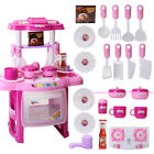 Portable Electronic Childrens Kids Kitchen Cooking Girls Toys Cooker Play Set UK