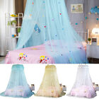 Pink Blue Round Lace Curtain Dome Tent Bed Canopy Netting Princess Mosquito Net image