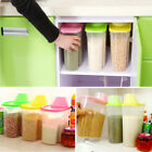 UK Plastic Kitchen Food Cereal Grain Bean Rice Storage Box Container Box Case