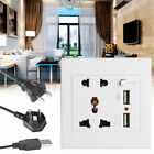 Dual USB Wall Socket Charger AC DC Power Adapter Port Outlet Panel Receptacle