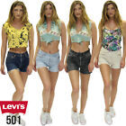 Levis 501 Denim Shorts Vintage High Waisted Hot pants Grade A 6 8 10 12 14 16