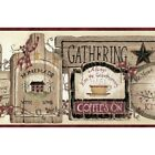 Gathering Room Signs Border BBC20061B country kitchen brown Easy-Walls prepasted