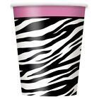 Zebra Passion   Animal Print Stipes Paper 270ml Party   Drink Cups   Birthday