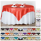 "Внешний вид - 90"" SATIN Square Table Overlay For Wedding Catering Party Table Decorations"