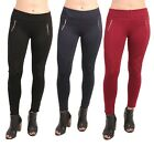 Women's High Waist Stretch Slim Leggings With Lace & Single Zip Jeggings 8 - 16