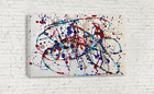 ABSTRACT EXPRESSIONIST JACKSON POLLOCK DRIP PAINTING CANVAS WALL ART