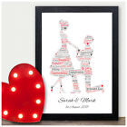 PERSONALISED Engagement Gifts Print for Him Her Engagement Congratulations Gift