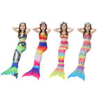 4PCS Girls Mermaid Tail Swimsuit Swimming Dress Costume Bikini Set with Garlands