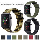 For iWatch Apple Watch Series 3 2 1 42mm Nylon Woven Band Strap Replacement