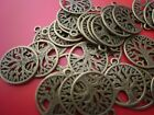 30 Bronze coloured tree of life charms jewellery crafts wiccan pagan smooth