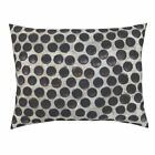 Folk Outsider Bottles Polka Dots Brick Glass Beer Pillow Sham by Roostery