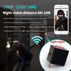 1X HD Wifi Led Night Vision Light Hidden Camera Adapter AC Wall Charger V10
