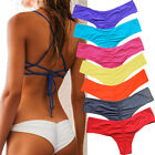 Women Bikini Brazilian Cheeky Bottom Thong V Swimwears Swimsuit Panties Sexy