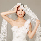 1 Layer White Cathedral Length Lace Edge Bride Wedding Bridal Long Veil