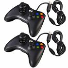 LOT 100 Official Microsoft Xbox 360 Wired Controller Windows PC & Xbox 360 BLACK