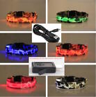 RECHARGEABLE LED CAMO COLLAR Dog Pet Safety Belt Harness Neck Camouflage Lighted