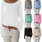 big size womens clothes - Women Long Sleeve Casual Loose Style Knit Blouse Ladies Top Tees Plus Big Sizes