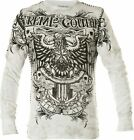 Xtreme Couture by AFFLICTION Men THERMAL T-Shirt GRAS PATRON Biker MMA Gym $58 image