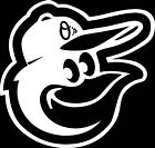 BALTIMORE ORIOLES BIRD LOGO CAR DECAL VINYL STICKER WHITE 3 SIZES