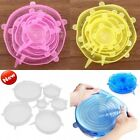 6pcs Silicone Stretch Suction Pot Lids Kitchen Cooking Bowl Cover Spill Stopper