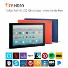 BRAND NEW Amazon Fire HD 10 Tablet 32 GB Black Red Blue 2...