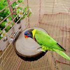 Round Wooden Coin Parrot Bird Cage Perches Stand Pet Budgie Hanging Toy MB