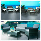 Rattan Garden Corner Sofa Set 5 Seater With Coffee Table Outdoor Patio Furniture