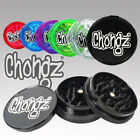 Chongz Tuff Plastic Herb Grinders 3 Part  50MM Spice Crusher 7 Colours