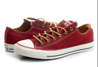 New Converse Chuck Taylor All Star Peached Ox 151145C Red Shoes Leather
