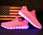 Unisex 7 LED Light Lace Up Luminous Shoes Sportswear Sneaker Casual Shoes