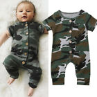 Toddler Baby Boy Girl Kids Cotton Camo Romper Jumpsuit Summer Clothes Outfits US