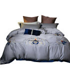 Wedding bed linings 6pcs Embroidery Pure cotton quilt cover bed sheets fashion