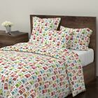 London Travel Uk Bus Retro Great Britain Kids Sateen Duvet Cover by Roostery
