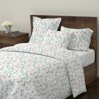 Retro Vintage Christmas Scandinavian Tree Sateen Duvet Cover by Roostery