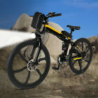 """Folding 26"""" Electric Mountain Bike Off-Road Bicycle Ebike Power Lithium 250W 36V"""