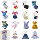 Newborn Summer Baby Kid Girl Boy Romper T-shirt Top+Pants Party Dress Outfits US