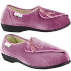 New Womens Ladies Warm Cosy Low Heel Velcro Opening Booties Slippers Shoes Sizes