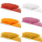 10 Yards Ostrich Feathers Trims Fringe Ribbon for Sewing Crafts Party Cosplay