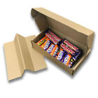 Kraft Postal Boxes Multi Use,With Insert Secure tight Flaps 360L x 185W x 85Dmm