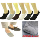 Lot Men Solid Ankle Invisible No Shows Nonslip Loafer Boat Liner Cotton Socks