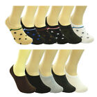 12 Pairs Lot Men Ankle Invisible No Show Nonslip Loafer Boat Liner Cotton Socks