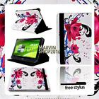 "For Various 8"" Acer Iconia Tab Tablet - FOLIO LEATHER STAND CASE COVER + Stylus"