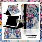 For Various COBY Kyros Tablet - FOLIO LEATHER STAND CASE COVER + Stylus